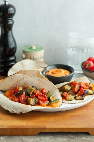 Ratatouille Wraps (Paleo, Vegan)
