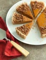 Sweet Potato Tart with Pecan Praline Topping (Paleo, Vegan)