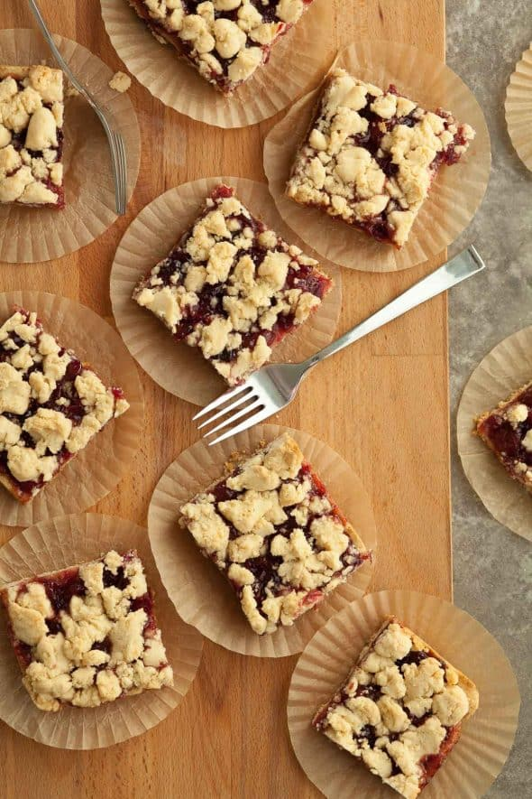 Cranberry Crumb Bars in Paper Cups