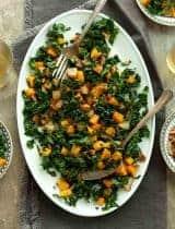 Roasted Butternut Squash and Pear Salad (Paleo, Vegan)