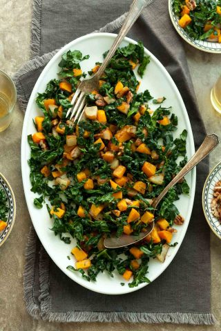 Roasted Butternut Squash and Pear Salad (Paleo, Vegan)