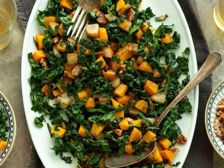 Roasted Butternut Squash and Pear Salad