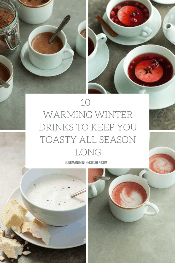 10 Warming Winter Drinks - From hot chocolates to spiced milks and lattes, these 10 dairy-free and refined sugar-free winter drinks will keep you toasty all season long.