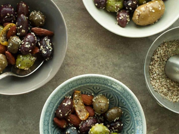 Zaatar Roasted Olives and Almonds (Paleo, Vegan)