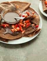 Gluten-Free Chocolate Crêpes with Dark Chocolate Sauce (Paleo)