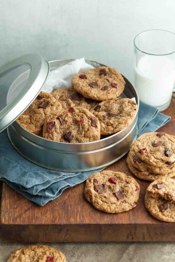 Flourless Trail Mix Cookies in Tin