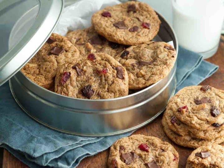 Flourless Trail Mix Cookies