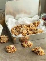 Fruit and Nut Coconut Clusters (Paleo, Vegan)