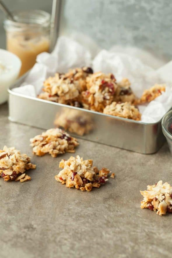 Fruit and Nut Coconut Clusters
