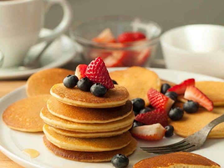 Gluten-Free Silver Dollar Cashew Butter Pancakes (Paleo)