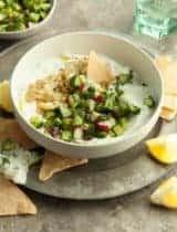 Greek Inspired Savory Yogurt Bowl (Dairy-Free Option)