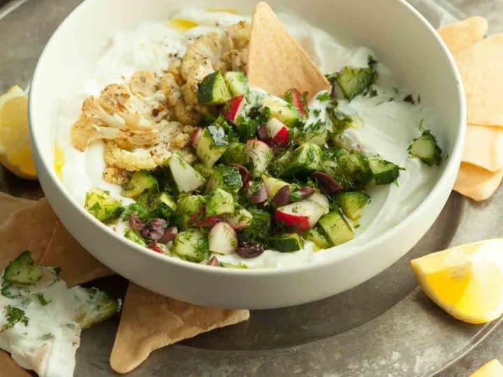 Greek Inspired Savory Yogurt Bowl