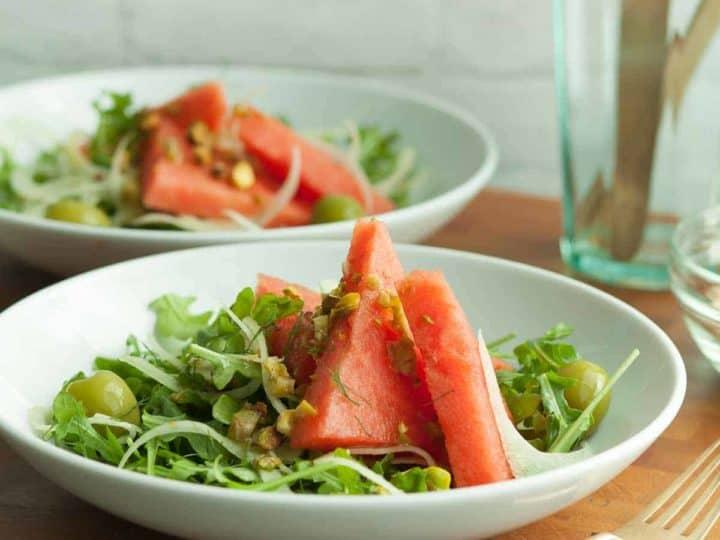 Fennel Arugula Watermelon Salad