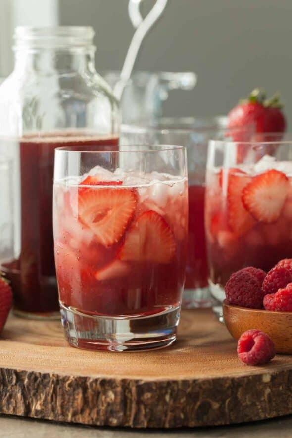 Hibiscus Berry Shrub in Glasses