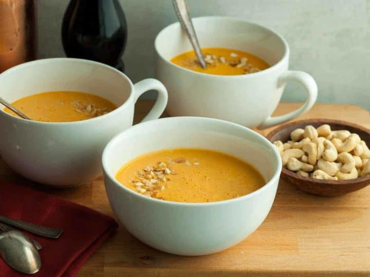 Roasted Red Pepper Carrot Soup