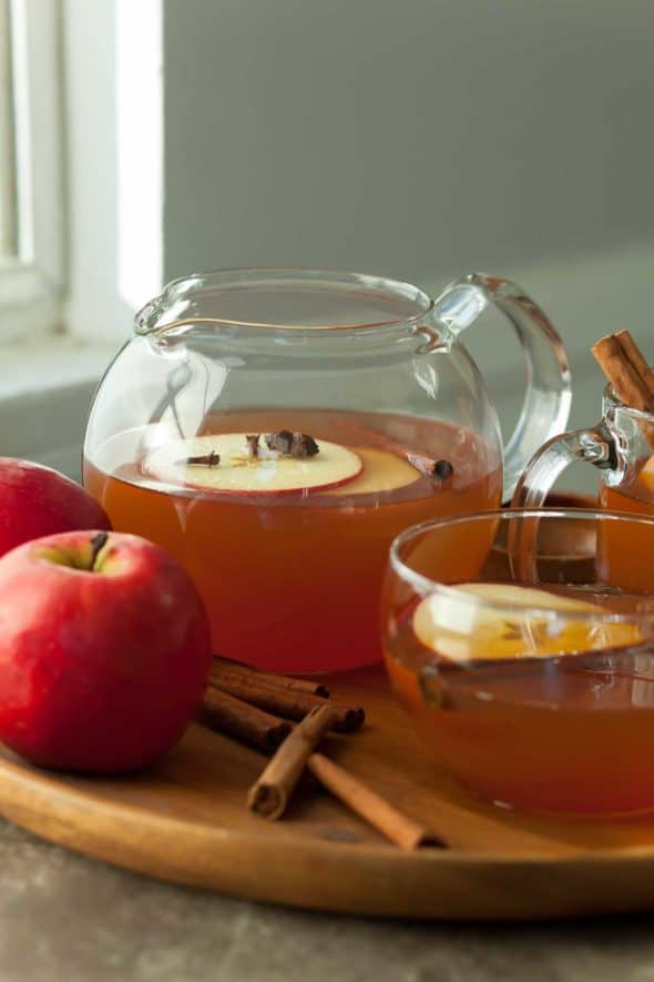 Cinnamon Spiced Apple Tea in Carafe
