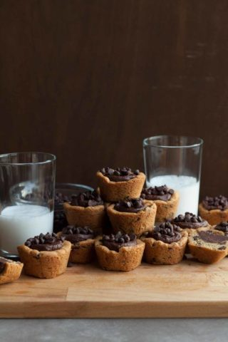 Gluten-Free Chocolate Chip Cookie Cups (Paleo, Vegan)