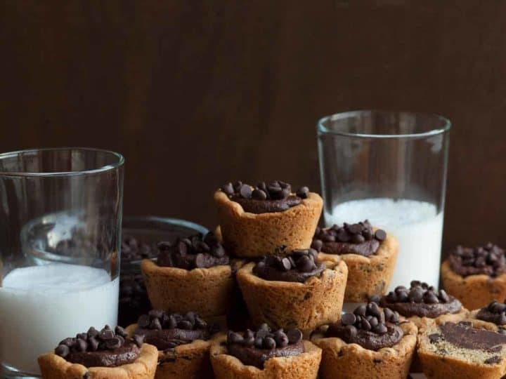 Gluten-Free Chocolate Chip Cookie Cups (Vegan)
