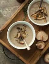 Vegan Roasted Mushroom Cauliflower Soup (Paleo)