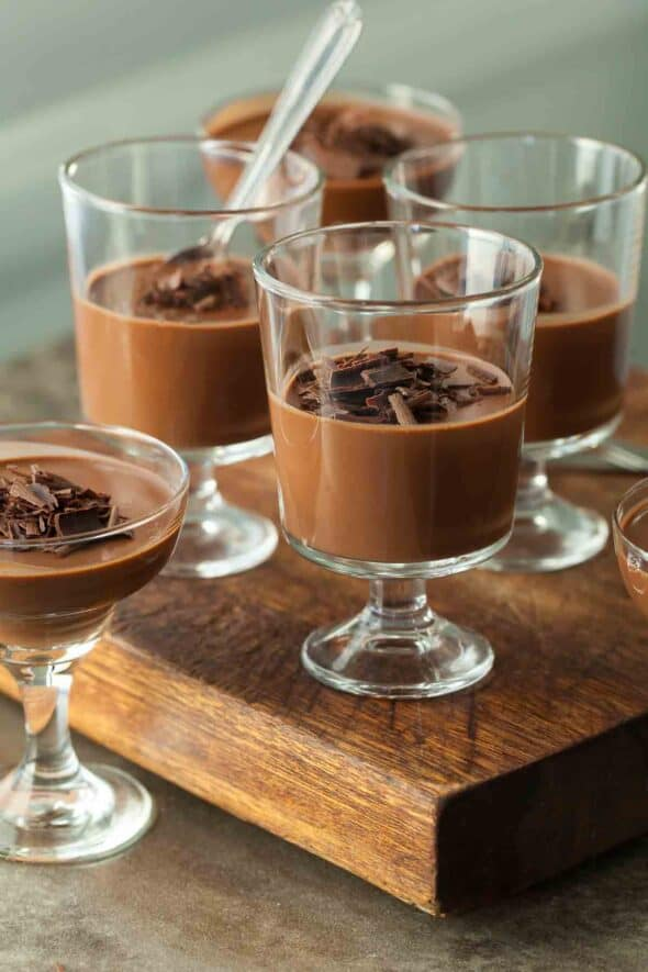 Vegan Double Chocolate Panna Cotta in Glasses