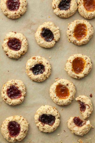 Gluten-Free Jam Thumbprint Cookies (Paleo, Vegan)