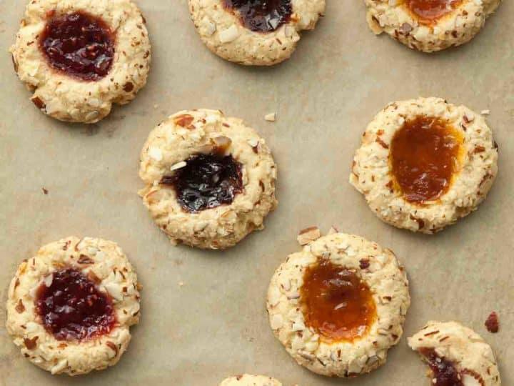 Gluten-Free Jam Thumbprint Cookies (Vegan)