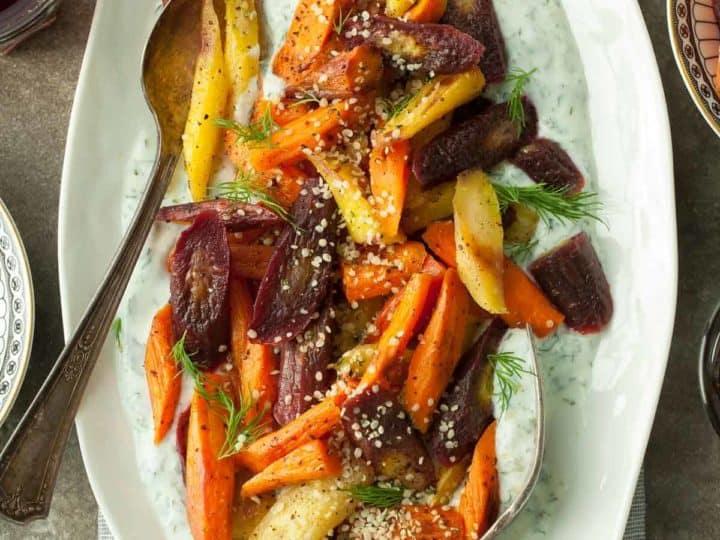 Sumac Roasted Carrots with Herbed Yogurt (Paleo Option)