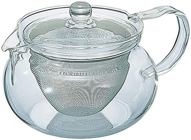 Heat Resistant Glass Tea Pot with Strainer