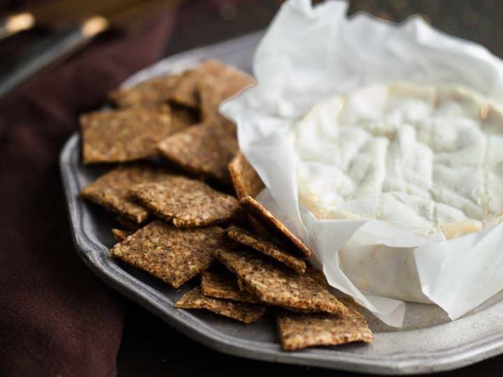 Homemade Gluten-Free Almond, Flax, Hemp Seed Crackers (Grain-Free, Paleo)
