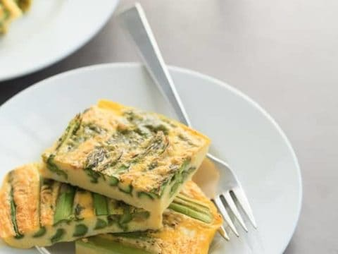 Asparagus and Pesto Baked Omelette (Dairy-Free, Paleo)