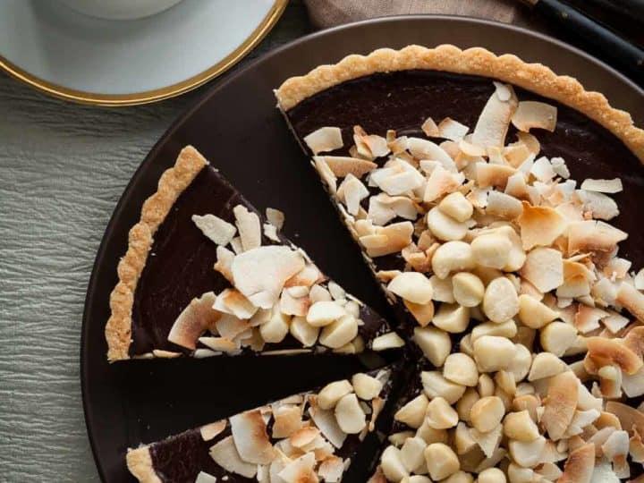 Chocolate Coconut Macadamia Nut Tart
