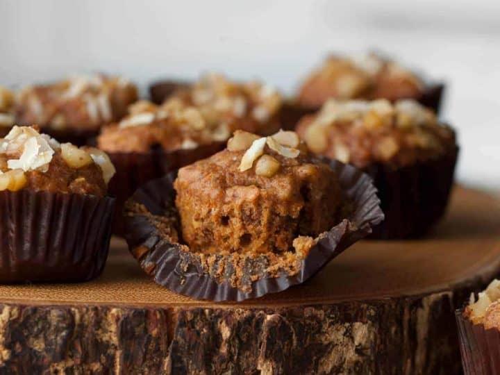Gluten-Free Mini Applesauce Carrot Cake Muffins (Paleo)