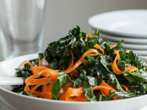 Moroccan Kale Carrot Salad