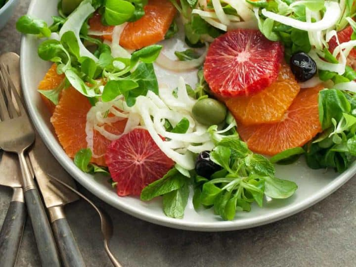 Orange Olive Salad with Fennel (Paleo, Vegan)
