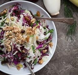 Red Cabbage, Radicchio and Endive Salad