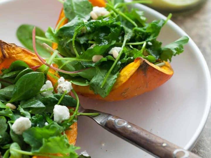 Roasted Winter Squash Salad Boats