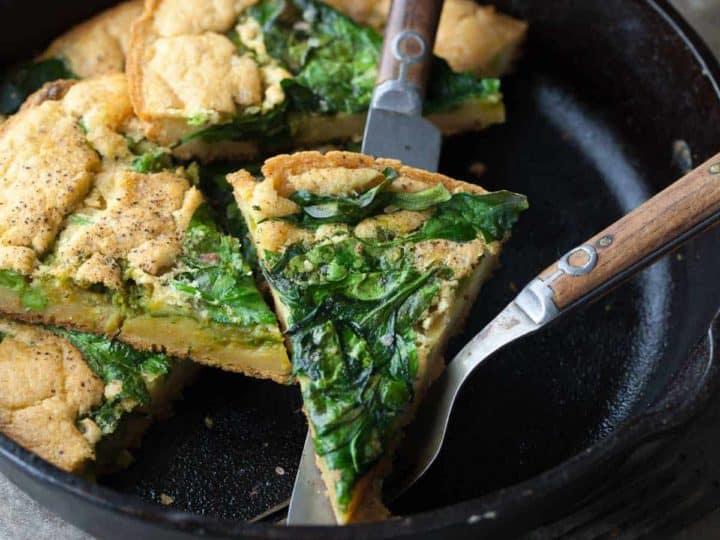 Spinach and Pesto Socca