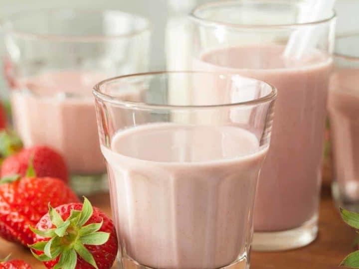 Dairy-Free Strawberry Cashew Milk