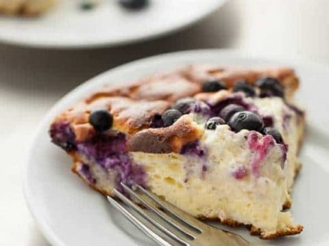 Sweet Blueberry Lemon Omelette