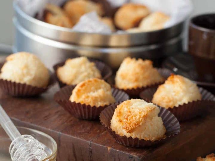 paleo honey coconut macaroons