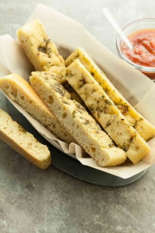 Gluten-Free Garlic and Herb Soft Breadsticks
