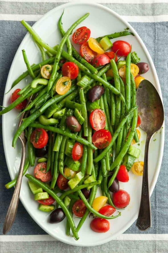 Green Bean and Cherry Tomato Salad Top View