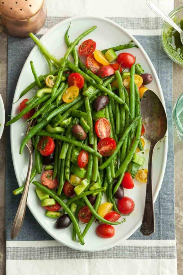 Green Bean and Cherry Tomato Salad on Platter