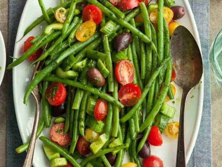Green Bean and Cherry Tomato Salad (Vegan)