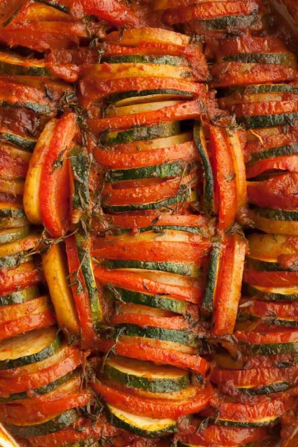Provencal Vegetable Tian Close Up